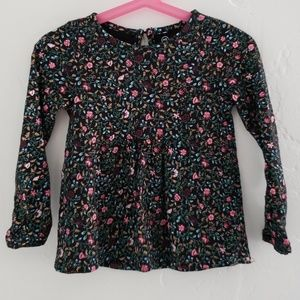 Adriano goldschmled girls toddler floral top 4T